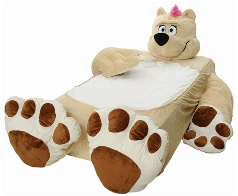 bear bed incredibeds teddy bear bed cover twin beige