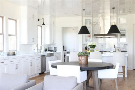 how to mix metals becki owens black white contemporary kitchen hgtv faces of design