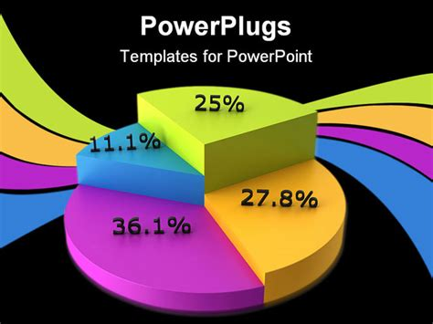 pie chart template powerpoint high quality 3d render of a colorful pie chart with