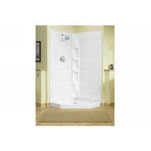 Sterling Neo Angle Shower Kit Reviews Sterling 72040100 0 Intrigue White Shower Enclosure Panels
