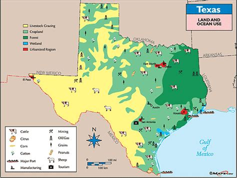 texas agriculture map texas land use map by maps from maps world s largest map store