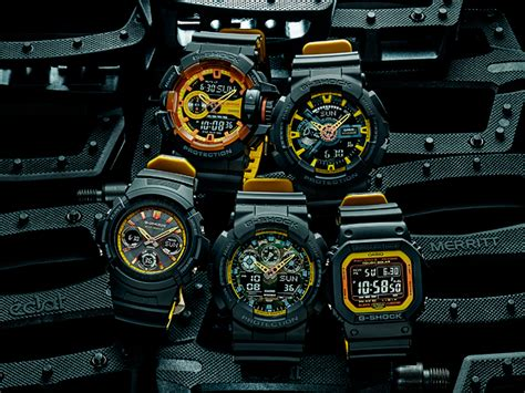 G Shock Series Black g shock black and yellow series