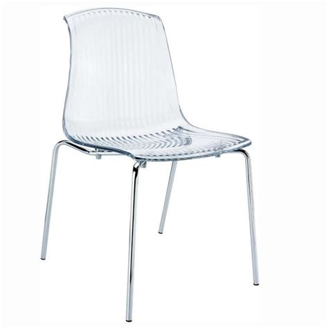 chaise design en plexi transparent allegra 4