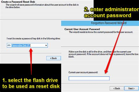 windows 10 password reset disk how to create use a password reset disk in windows 10