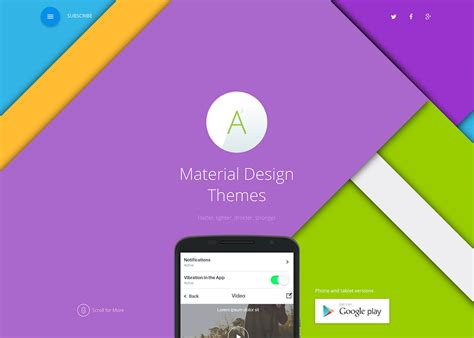 wordpress themes material design free the best landing pages for inspiration in january 2016