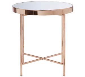 Argos Side Tables Buy Collection Glass Top Side Table Copper Plated At Argos Co Uk Your Shop For