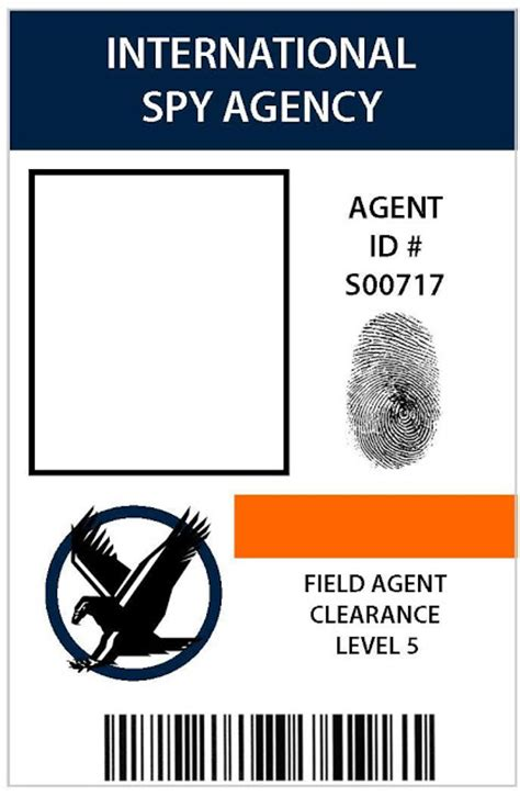 Detective Identification Card Template by Take The Side Secret