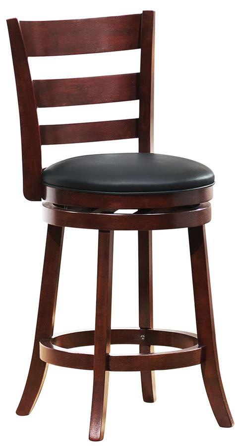 Design Swivel Counter Chair Edmond Swivel Cherry Counter Chair From Homelegance 1144e 24s Coleman Furniture