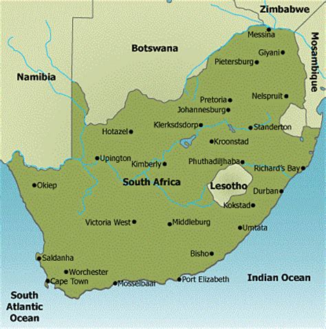 south africa physical map south africa map pictures