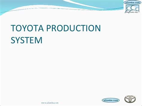 Toyota Product System Kanban Toyota Production System Images