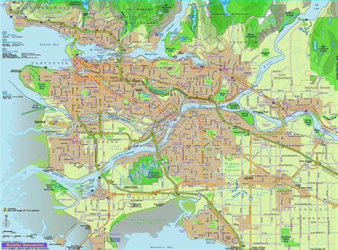 printable map vancouver bc free printable maps map of vancouver canada