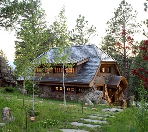 A Small Stone Guest Cottage In Colorado Small House Plans Colorado
