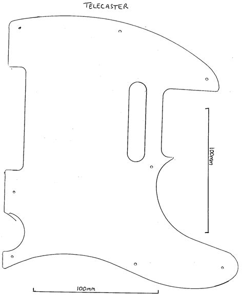 fender telecaster template diy wued guide guitar neck shape templates