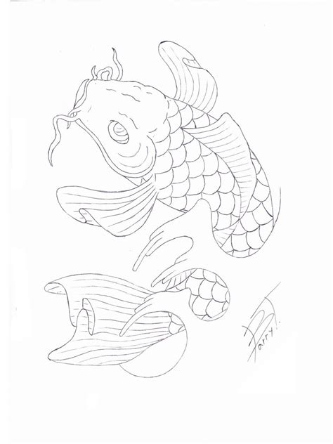 tattoo flash stencils gallery portfolio japanese koi tattoo