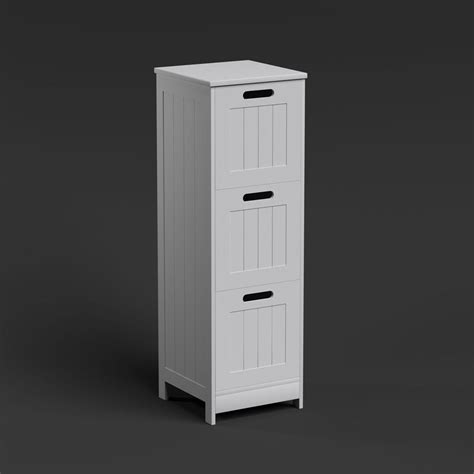 Free Standing Wall White Bathroom Storage Cabinet Unit Bathroom Wall Shelving Units