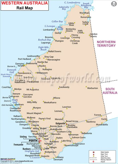 map of western australia western australia railway map 1wa westerns