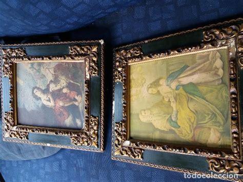 cuadros antiguos al oleo pareja de cuadros antiguos comprar pintura al 211 leo