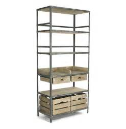 Industrial Bakers Rack Ardsley Industrial Loft Grey Metal Bakers Rack Bookcase Kathy Kuo Home