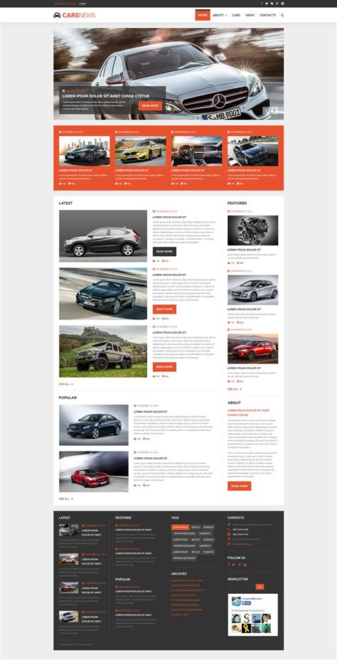 Cars News Joomla Theme Joomla Automotive Template
