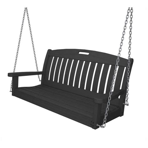 yard swing home depot hton bay cunningham 3 person metal outdoor swing with