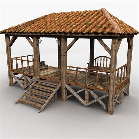 veranda wood 3d veranda wood wooden