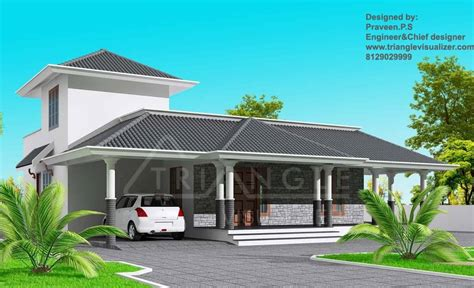 house design at kerala stylish kerala home design at 1860 sq ft