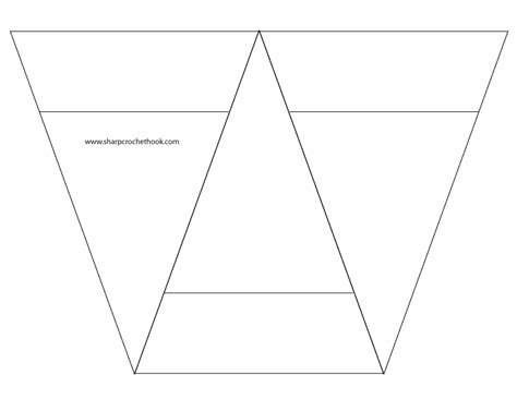 advent banner  printable template   triangles