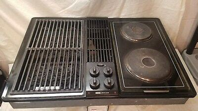 jenn air electric cooktop with grill jenn air black cooktop stovetop w grill and burner
