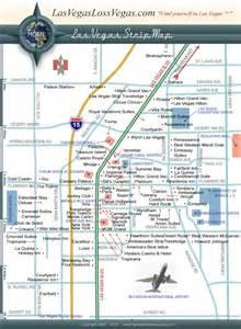 Las Vegas Blvd Map by Las Vegas Strip Map Las Vegas Loss Vegas Com