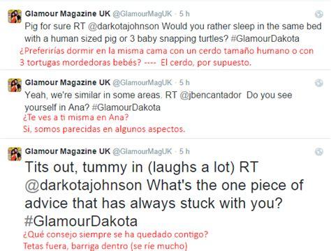 preguntas para entrevista de qa q a con dakota en el twitter de la revista glamour uk