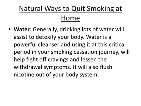 Detox Nicotine Out Of Your System by Stop Remedies