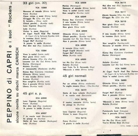 peppino di discografia cover testi