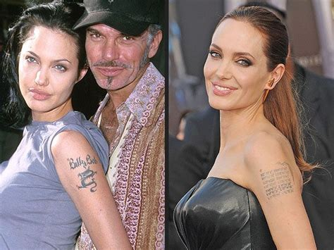 angelina jolie billy bob tattoo melanie griffith and more who