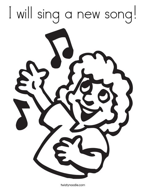 free coloring pages of sing a song of sixpence i will sing a new song coloring page twisty noodle