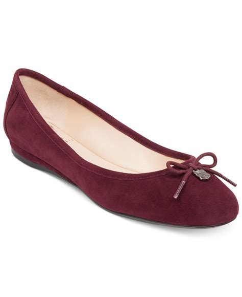 vince camuto shoes flats vince camuto ria ballet flats in purple plum suede