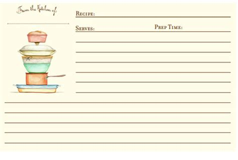 preschool cookie recipe card template 300 free printable recipe cards