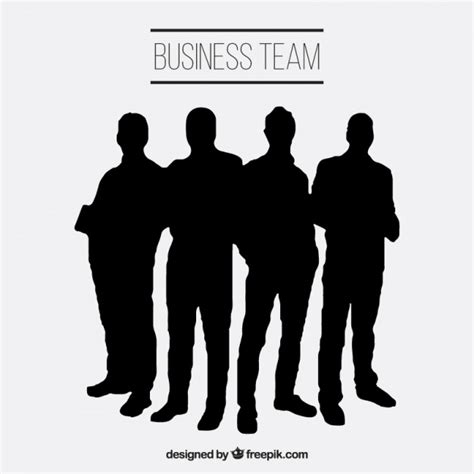 free silhouette images business team silhouettes vector free
