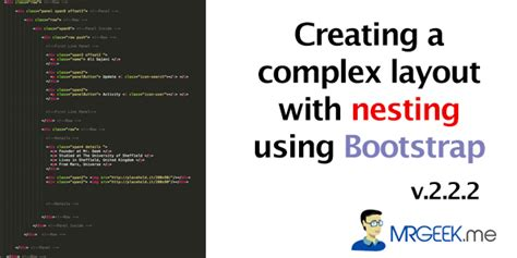 create layout using bootstrap creating a complex layout with nesting using bootstrap