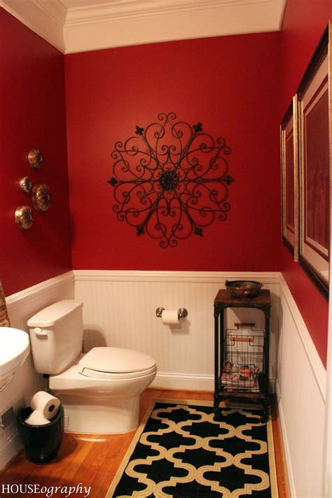 red black and white bathroom decor houseography spendalla home styling jen s under 500