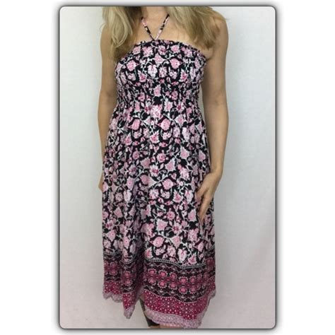 Chain Halter Gown Pink Blue Size Sml floral halter tank dress black pink sml from trendy styling s closet on poshmark