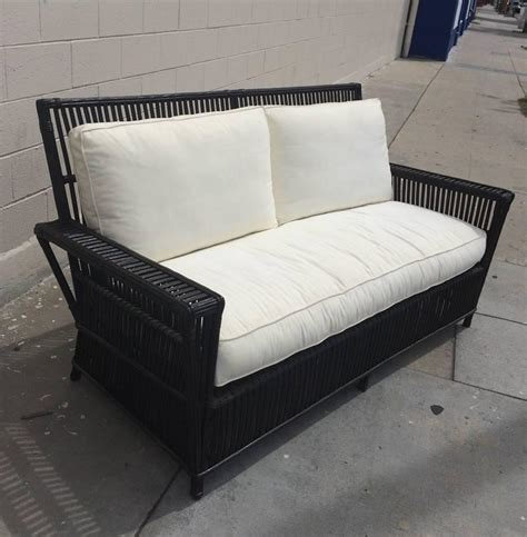 Upholstered Patio Furniture by Wicker Or Bamboo Patio Chairs And Sofa Upholstered In