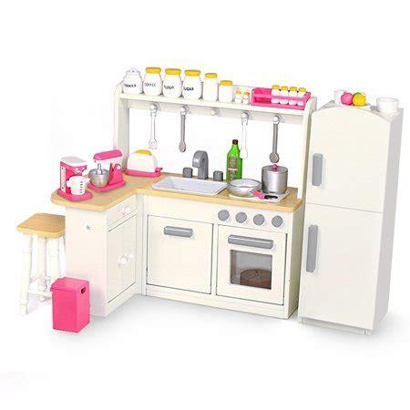 18 inch doll furniture kitchen set w refrigerator and