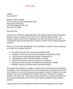 pharmacist cover letter template cover letter template 20 free word pdf documents