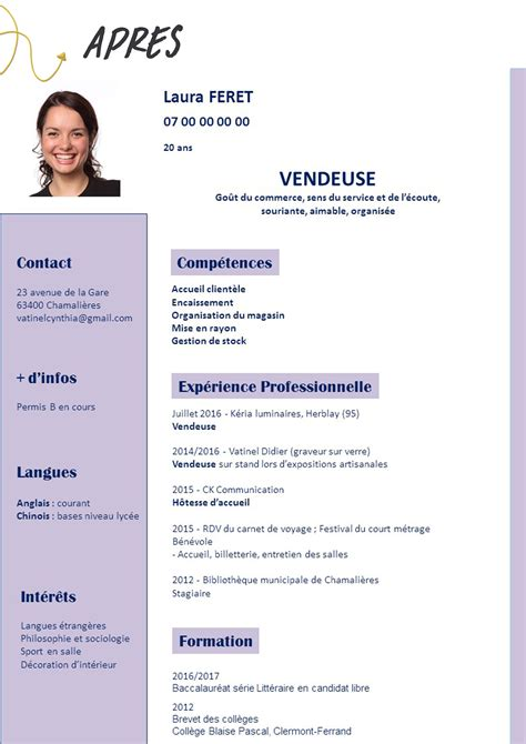 Bon Cv by Comment Faire Un Bon Cv En Anglais Comment Faire Un Cv 2018