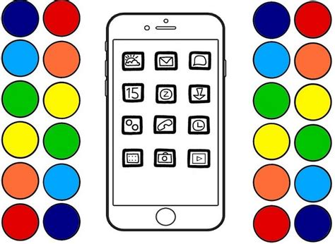 Iphone X Coloring Page by Iphone Key Features Coloring Page Printable