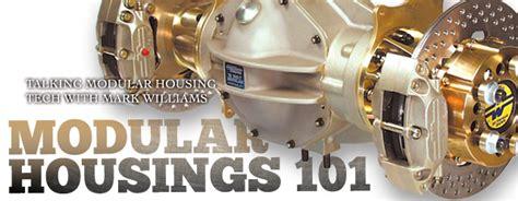 rear end technical information mark williams enterprises modular rear end housings 101 with mark williams