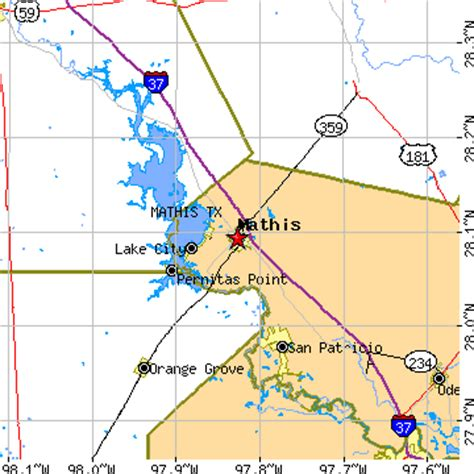 mathis texas map mathis texas tx population data races housing economy