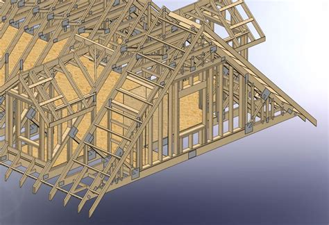 frame stairs  attic trusses construction