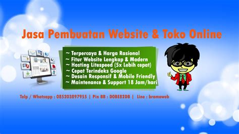Pembuatan Web jasa website murah jasa buat web murah bromoweb indonesia
