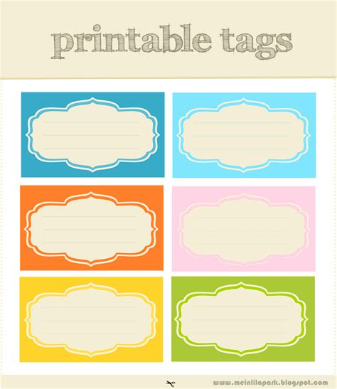 Printable Tag Stickers | free printable scrapbooking tags and digital journaling